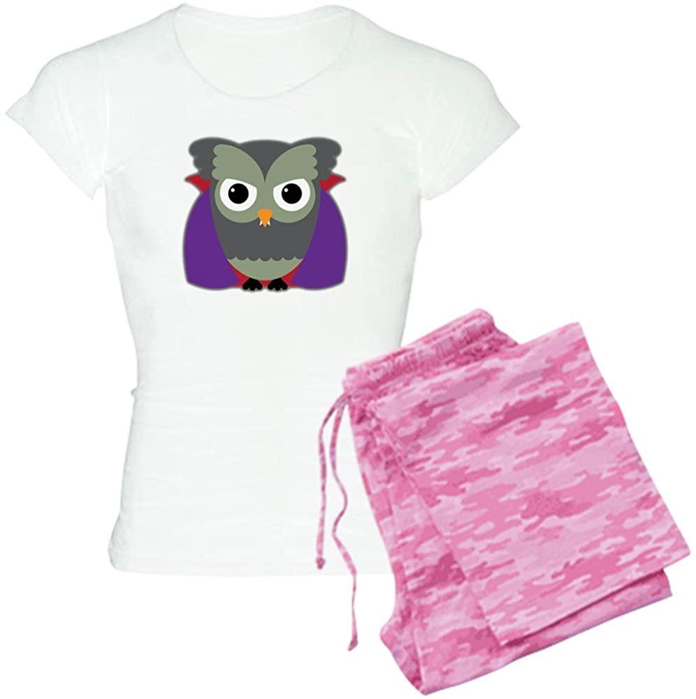 Truly Teague Women's Light Pajamas Spooky Little Owl Vampire Monster