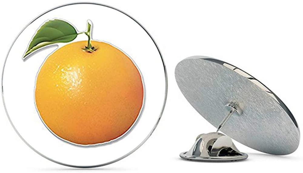 NYC Jewelers Orange Fruit Shaped (Funny Juice Florida Scrapbooking) Metal 0.75 Lapel Hat Pin Tie Tack Pinback
