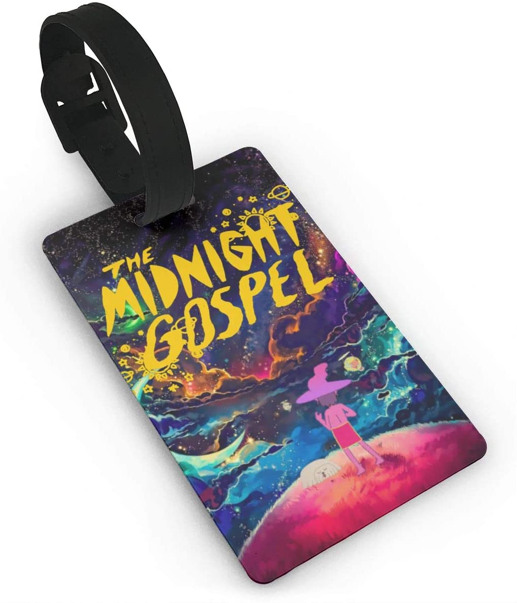 Pooizsdzzz The Midnight Gospel Luggage Tags is PVC Material, Durable Very Suitable for Men and Women in Luggage