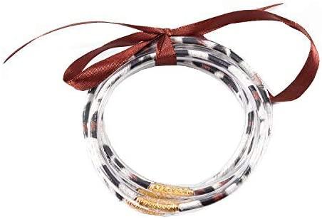 Ckysee All Weather Bracelets Glitter Jelly Bracelets Set Lightweight Cute Bracelets Best Gifts for Women Girls