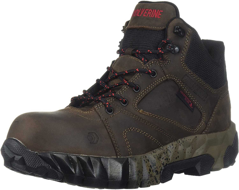 Wolverine Men's Gravity Mid Composite Toe Waterproof Work Boot, Brown, 9.5 W US