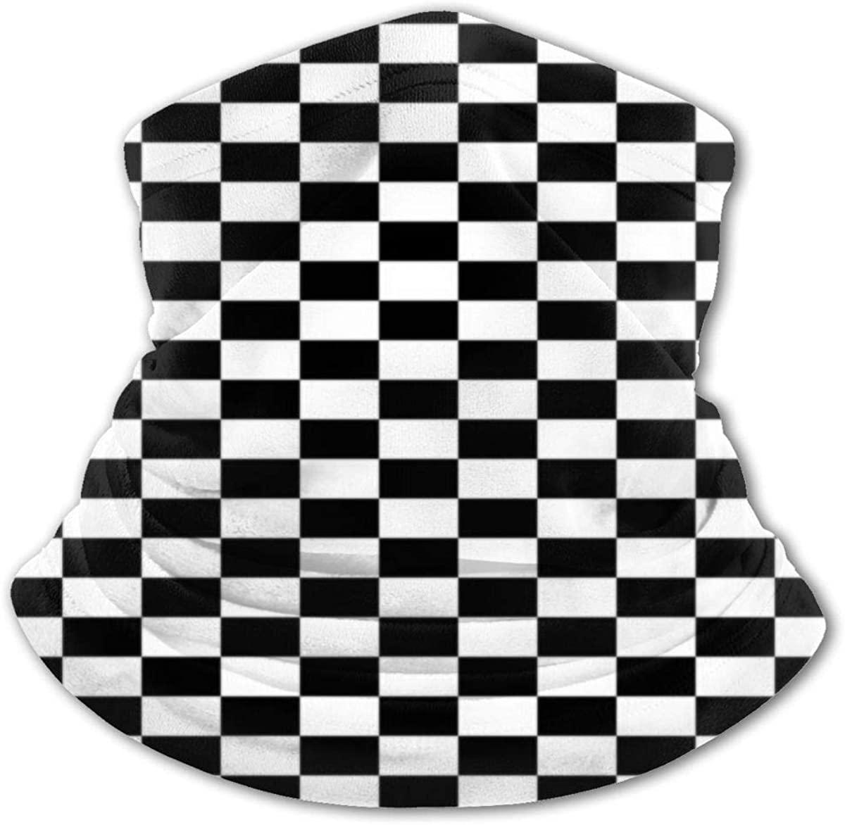 Chess Checkerboard Headwear For Girls And Boys, Head Wrap, Neck Gaiter, Headband, Tenn Fishing Mask, Magic Scarf, Tube Mask, Face Bandana Mask For Camping Running Cycling