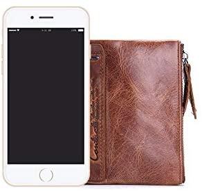 Leather wallets for men- Travel wallet slim wallet mens leather wallet