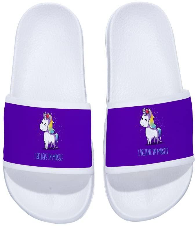 MingDe Sports Stylish Beach Sandals for Men Unicorn Anti-Slip Bath Slippers Shower Shoes Indoor Floor Slipper