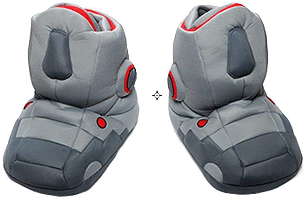 Do The Robot Comfortably Giant Robot Slippers with Sound Warm Indoor Slippers Birthday Gift Grey