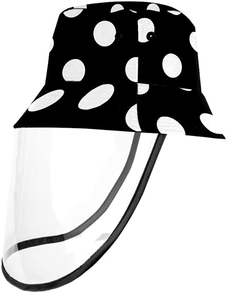 Dots Black White Protective Bucket Sun Hat Unisex Caps Outdoor Hats