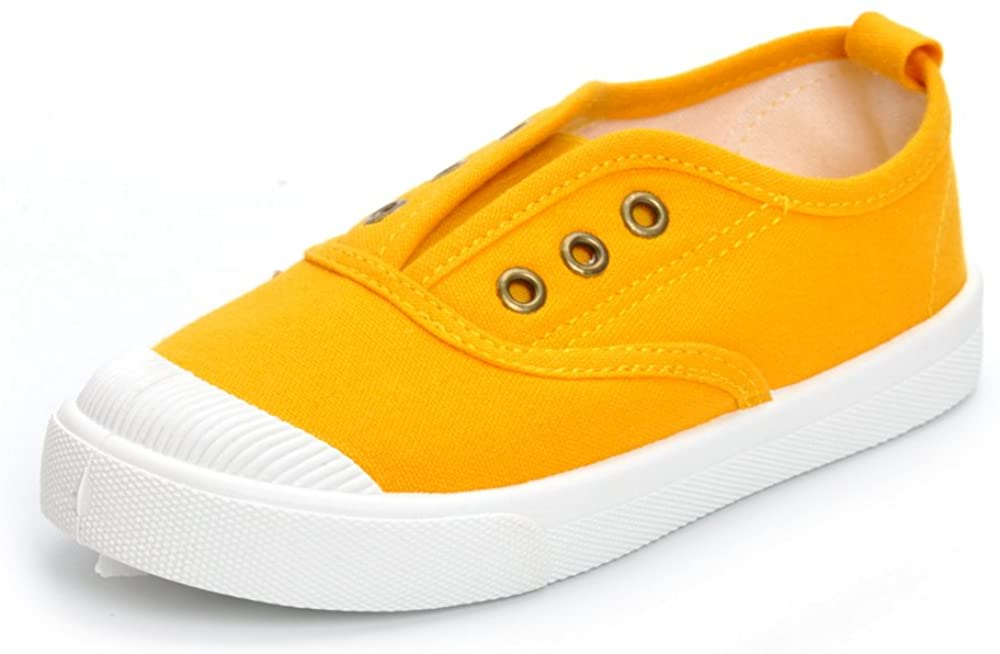 Toddler Boys Girls Candy Color Canvas Sneakers Casual Boat Shoe
