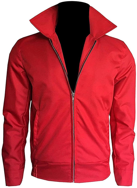 Red Slim Fit Cotton Jacket for Men   Slim Fit Red Cotton Jacket for Men