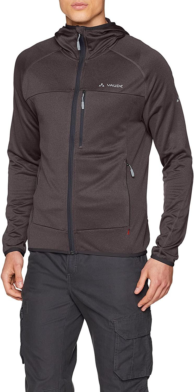 VAUDE Mens Tekoa Fleece Jacket - Casual Midlayer Hoody for Outdoor Sports - Lightweight, Stretchy and Comfortably Warm