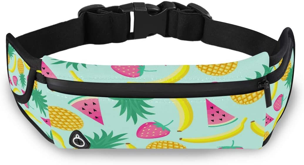 Creative Cute Cartoon Banana Waist Fanny Pack For Men Fanny Packs For Women Girls Fashion Bags With Adjustable Strap For Workout Traveling Running