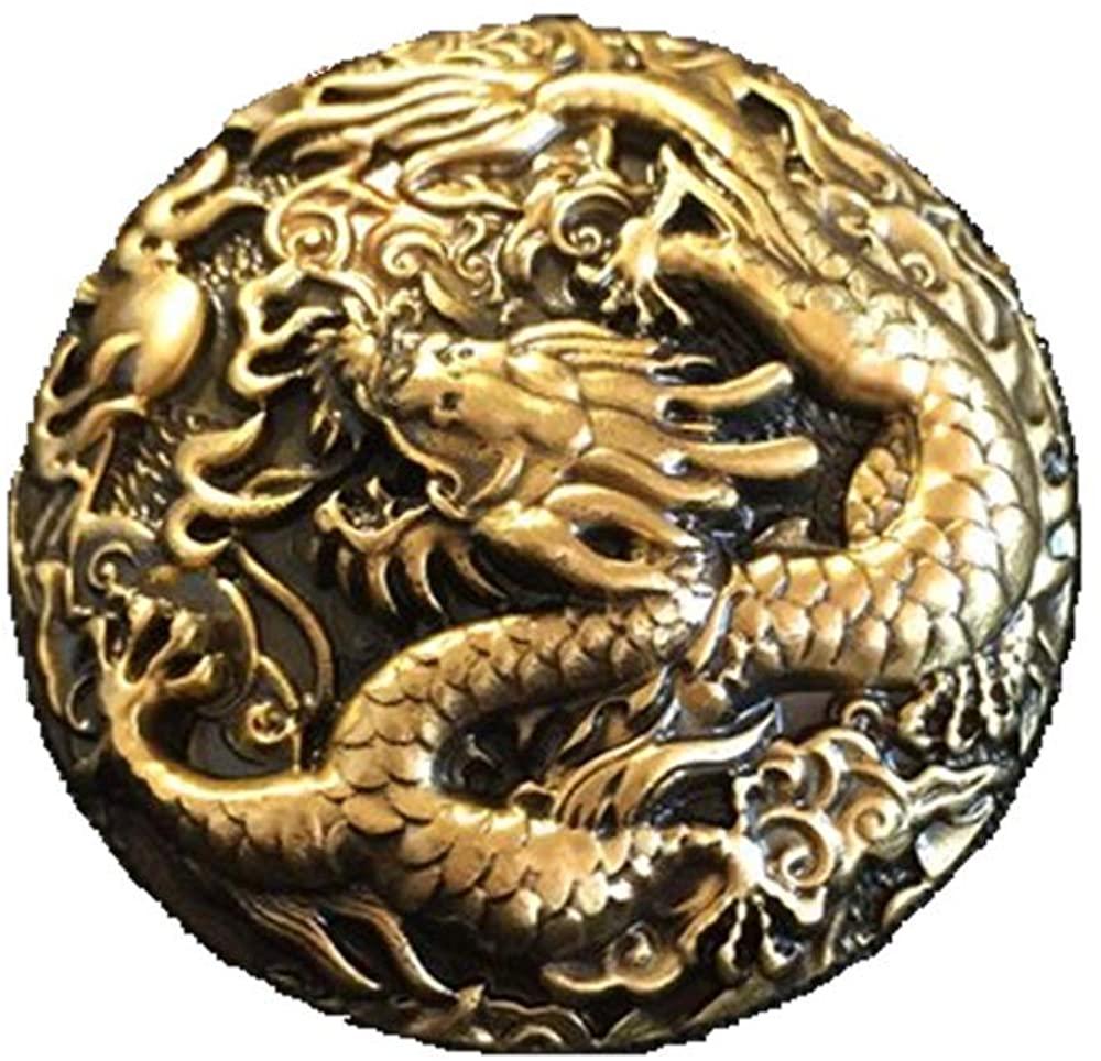 personality Retro Originality Dragon pure brass metal brooch Creative decorative badge for Man and Women