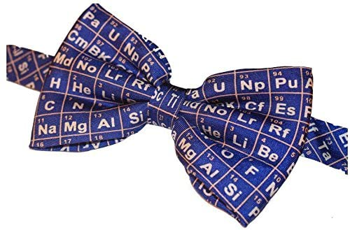 Periodic Table on Blue Fancy Silk Bow Tie Student Professor Lecturer Teacher Gift