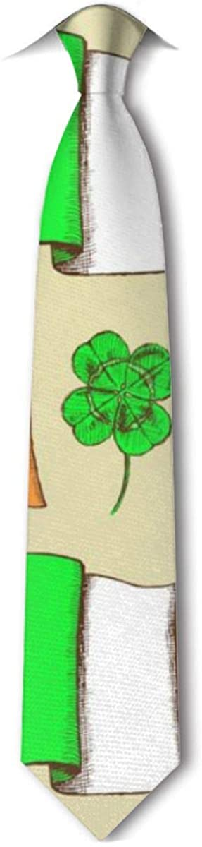 Sketch Irish Pattern Mens Classic Necktie For Wedding Party Business Tie