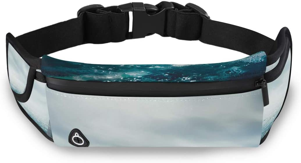 Great White Shark Fin Above Water 3d Illustratio Clear Fashion Bag Girls Waist Bag Waist Pack Fashion With Adjustable Strap For Workout Traveling Running