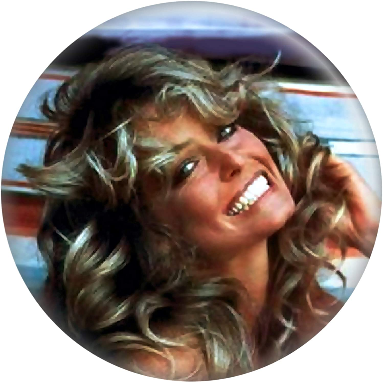 Farrah Fawcett - Head Shot on Blanket - 1 1/4