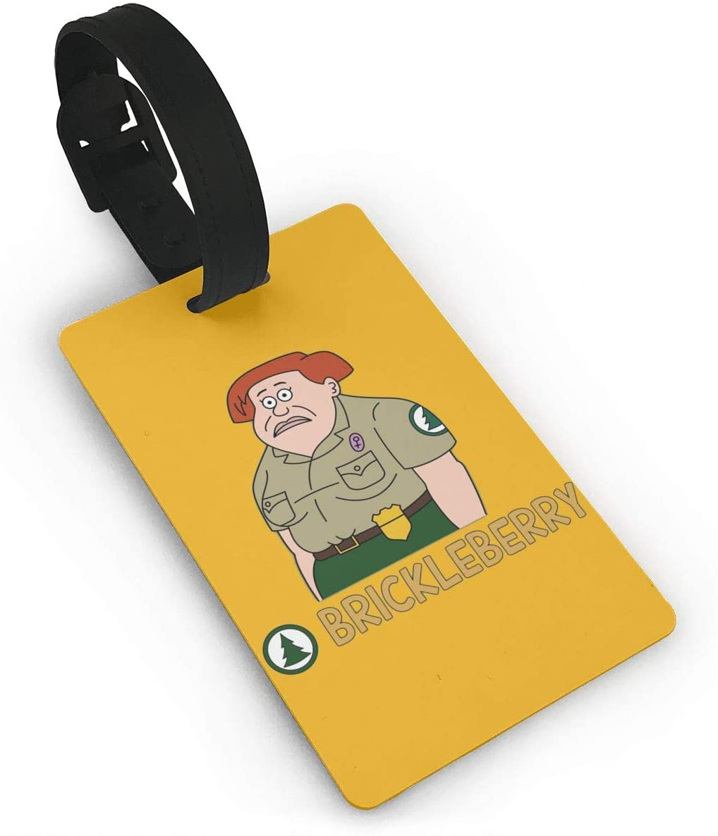 Pooizsdzzz Brickle Berry Luggage Tags is PVC Material, Durable Very Suitable for Men and Women in Luggage