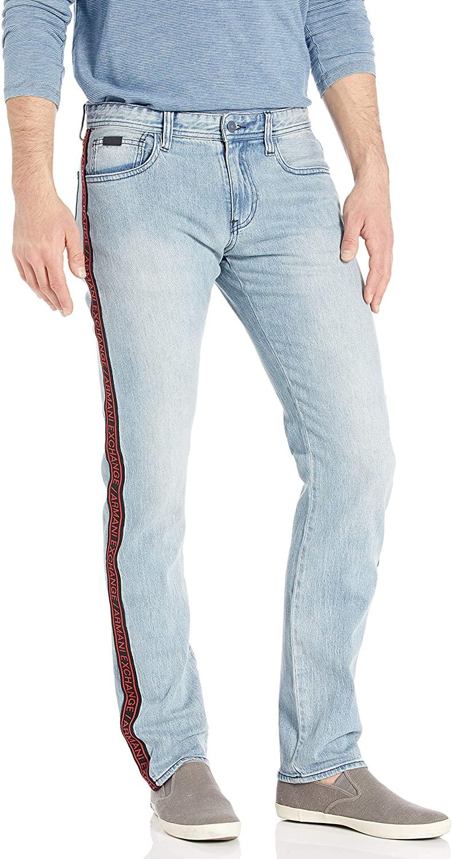 AX Armani Exchange Men's Five Pocket Denim Jean with Logo