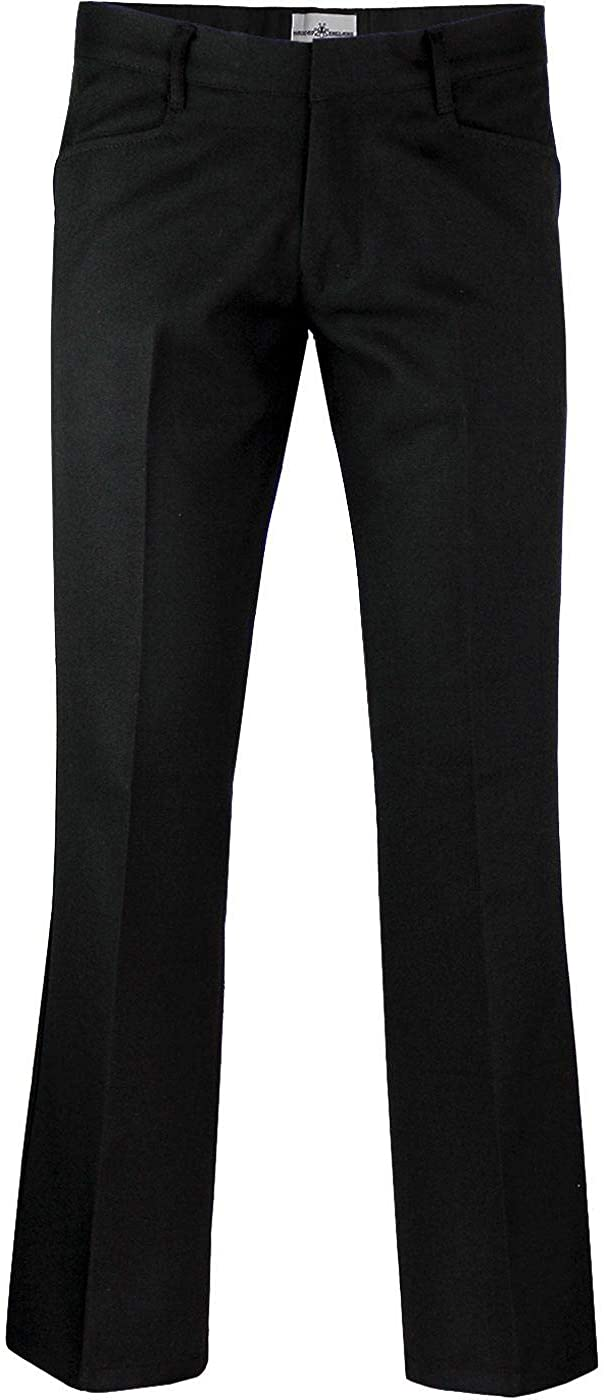 Madcap England Men's Retro 70S Logan Bootcut Hopsack Trousers with Frogmouth Pockets