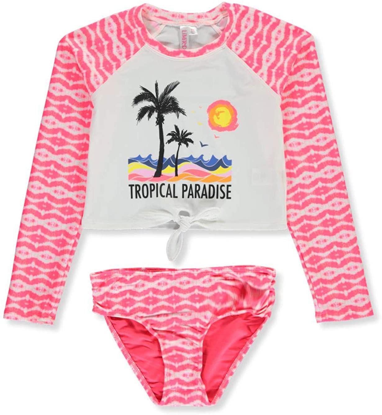 Limited Too Girls' Tropical Paradise 2-Piece Rashguard Swim Set