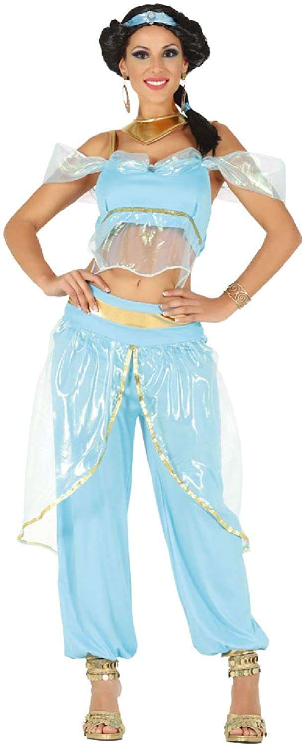 Ladies Sexy Arabian Princess Royalty TV Book Film Belly Dancer Hen Do Night Party Fancy Dress Costume Outfit (UK 10-12) Green