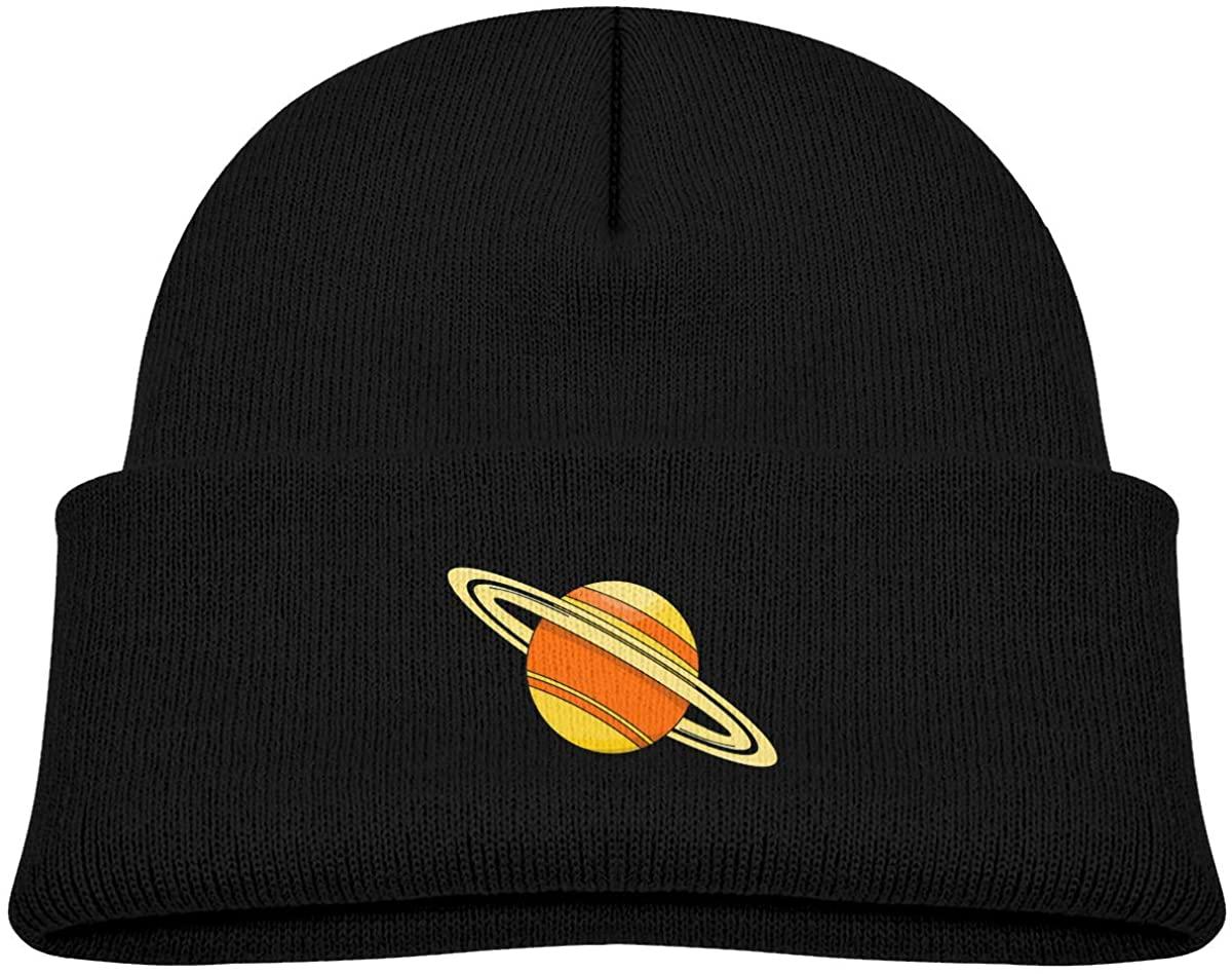 Cartoon Saturn Kids Beanies Hat Winter Hat Knitted Skull Cap