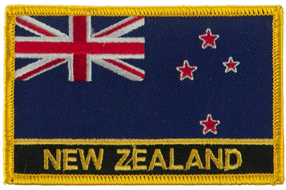 New Europe Flag Embroidered Patch - New Zealand W01S12E