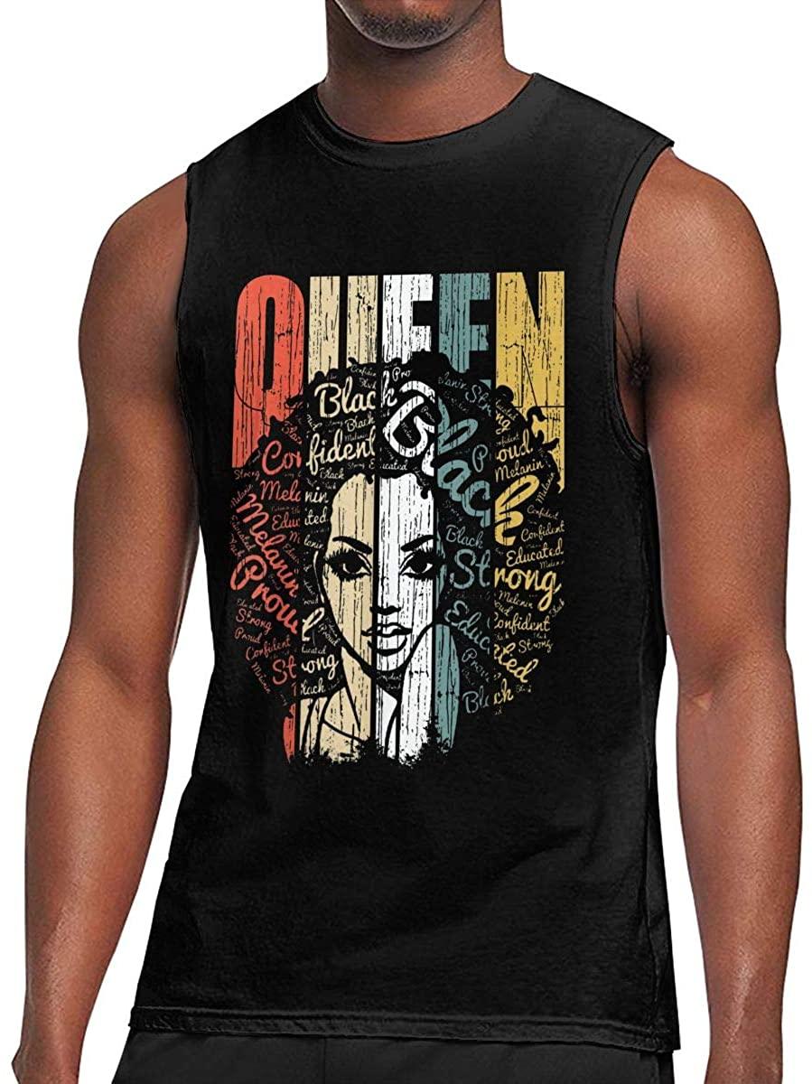 Reneealsip Queen Sleeveless Top Sports Men's Muscle Breathable Lightweight Sleeveless T-Shirt