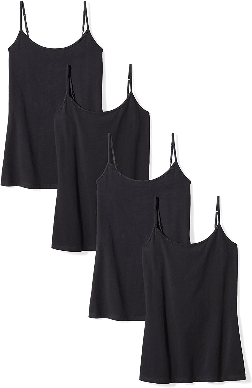 DHgate Essentials Women's 4-Pack Slim-Fit Camisole