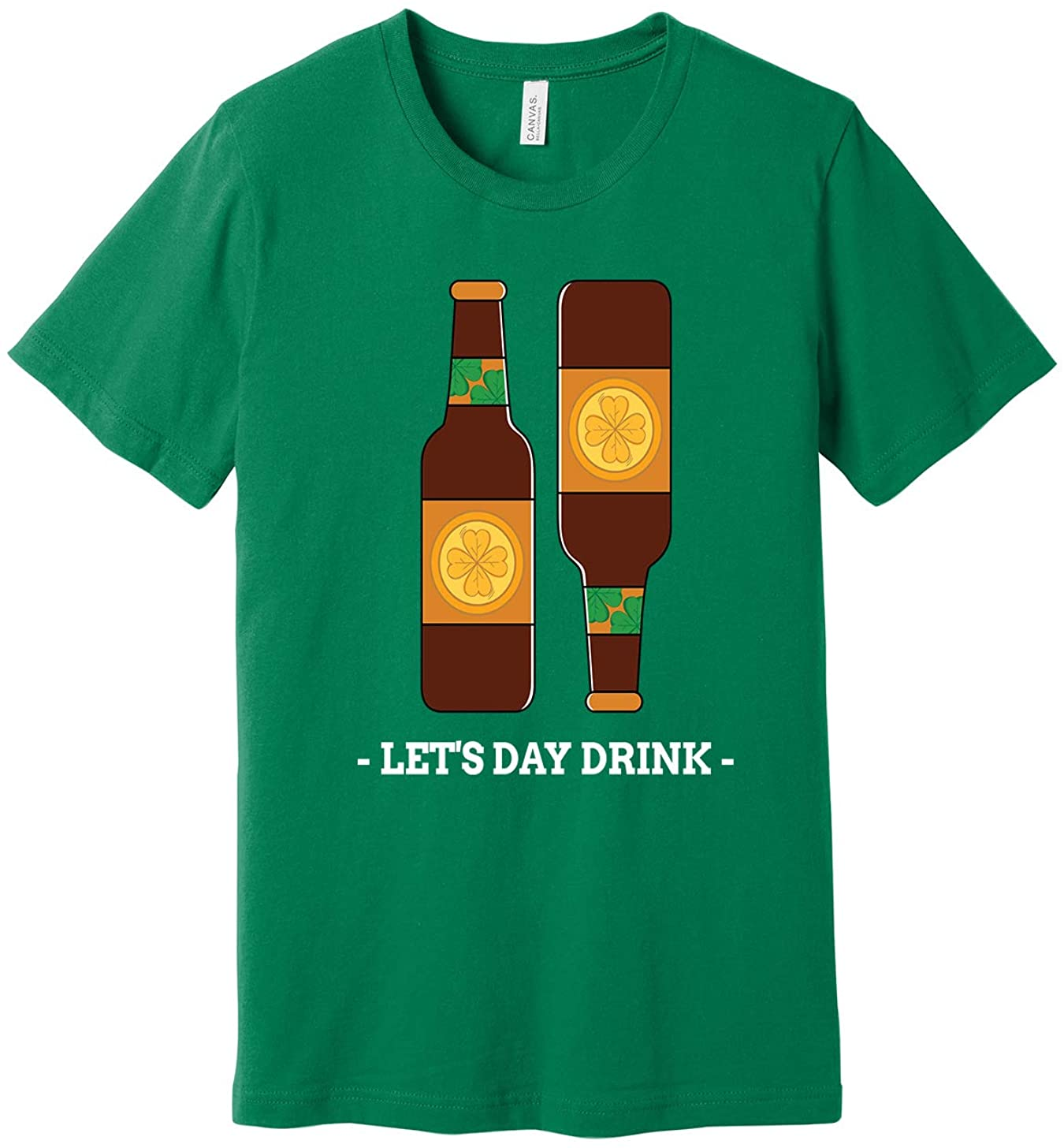 INK STITCH Boys and Girls Youth St. Patrick's Day Day Drink Short Sleeve T-Shirts - Green