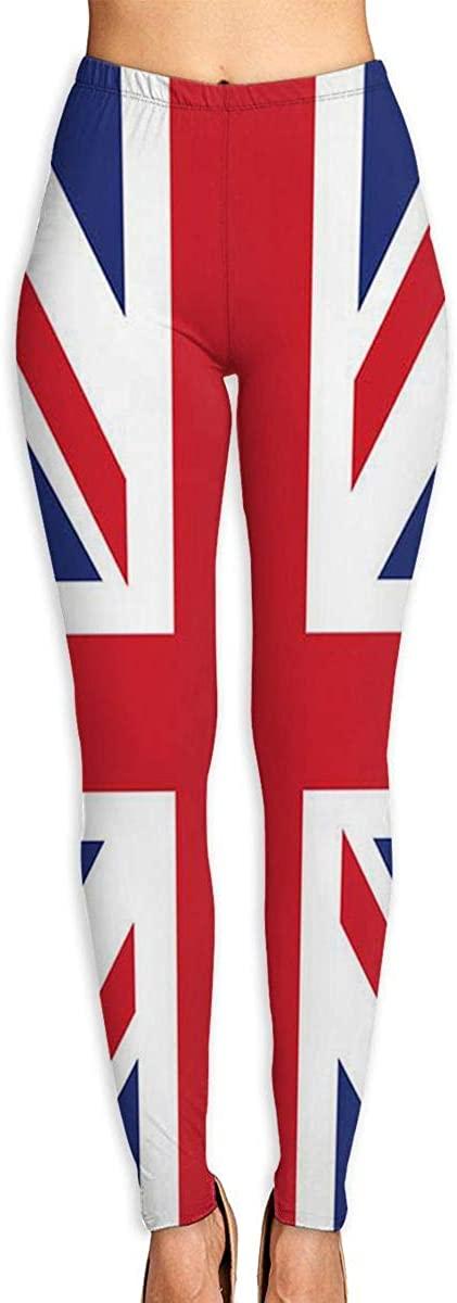 Apuiutw British Flag Women Funny Print Yoga Leggings Pants Workout Fitness Pants Sports Gym Yoga Quick Dry Capri Leggings