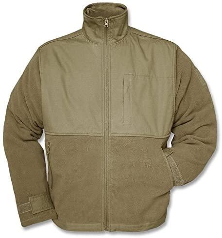 Mil-Tec Fleece Jacket, Coyote Tan, Zippered Pockets - Model 10855005