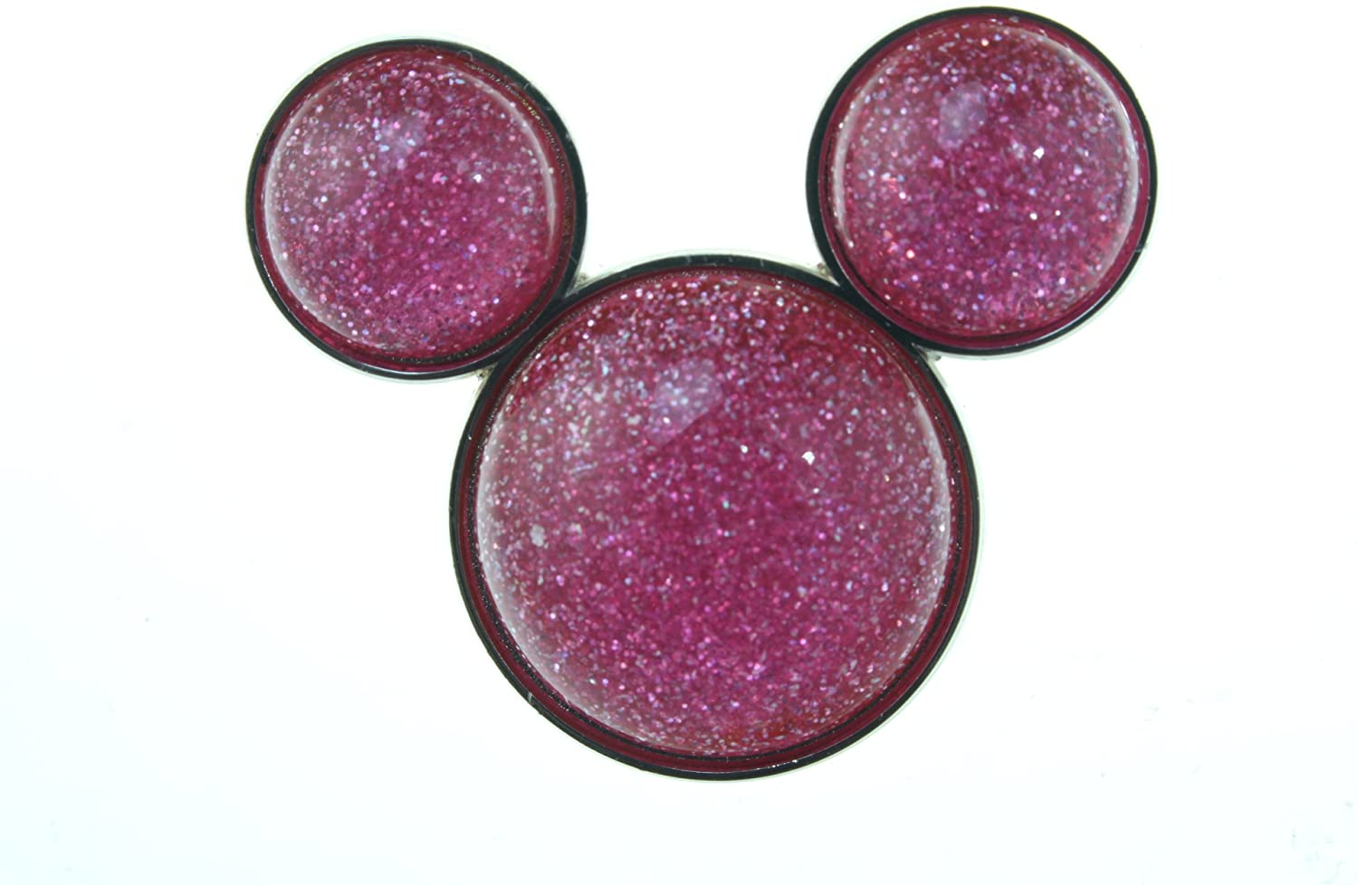 Disney Mickey Mouse Icon - Pink Glitter Pin