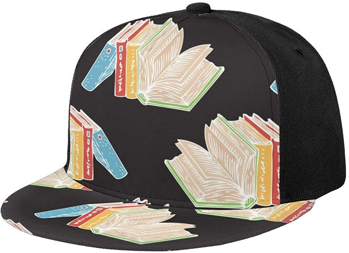 Baseball Cap Cute Funny Girl with Cat Snapback Flat Brim Golf Hats Cap for Women Men