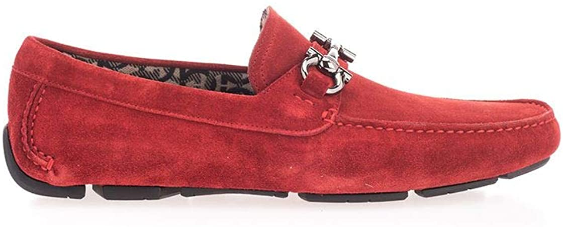 SALVATORE FERRAGAMO Luxury Fashion Man 02C163 Red Leather Loafers | Spring Summer 20
