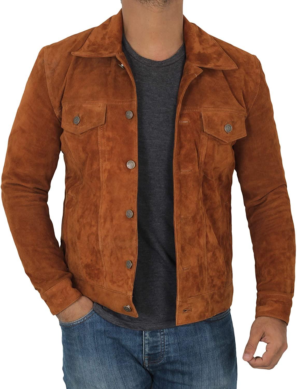 Suede Jacket Men - Real Suede Mens Leather Jacket