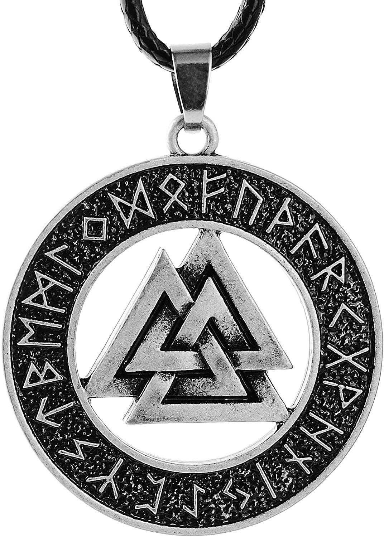 1PCS Norse Vikings Necklace Norse Valknut Necklace For Men Original Amulet Pendant Necklace