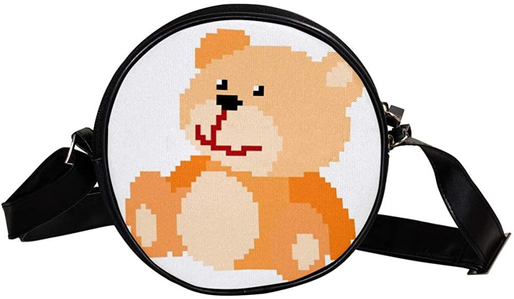 Coin Purse For Kids Pixel Bear Mini Crossbody Bag Girls Wallet