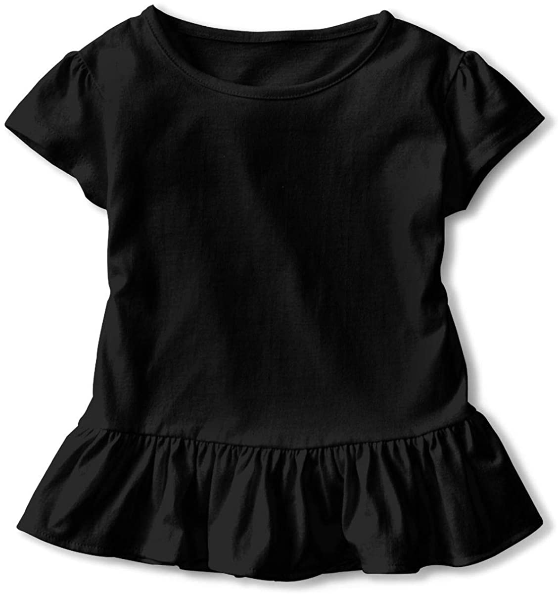 Kids Document One Logo Toddler Short Sleeve T Shirt Children Girls Cotton Graphic Tee Soft Dress (2-6T)