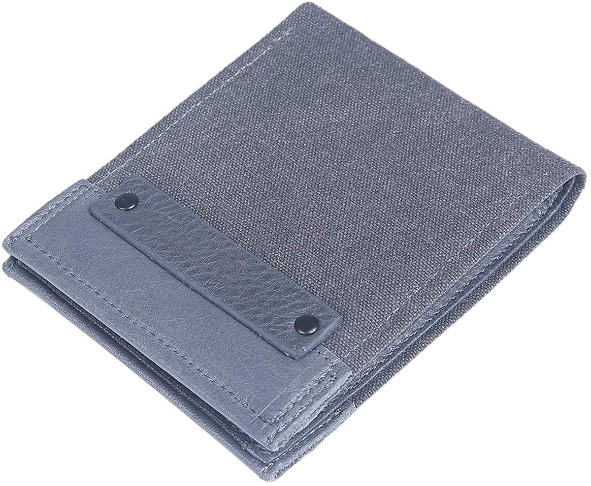 Mad Man by Mad Style Hawthorne Thin Mens Bifold Wallet (Canvas and Leather)