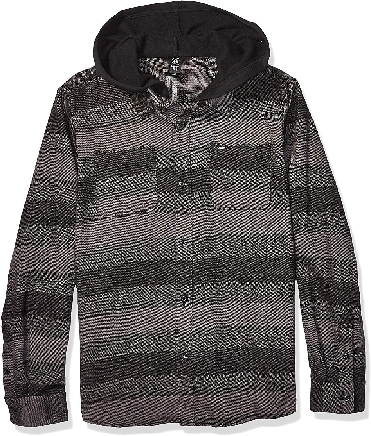 Volcom Big Boy's Tone Stone Hooded Long Sleeve Tee