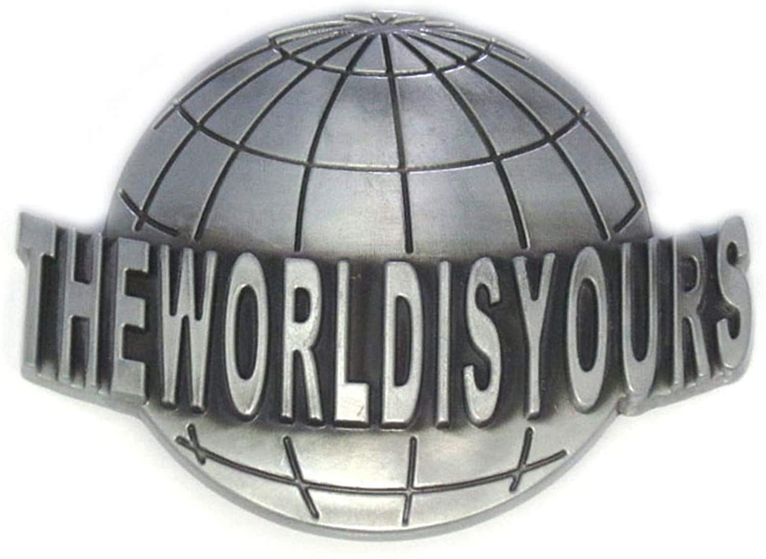 The World Is Yours Modelling Of The Earth Music Belt Buckle
