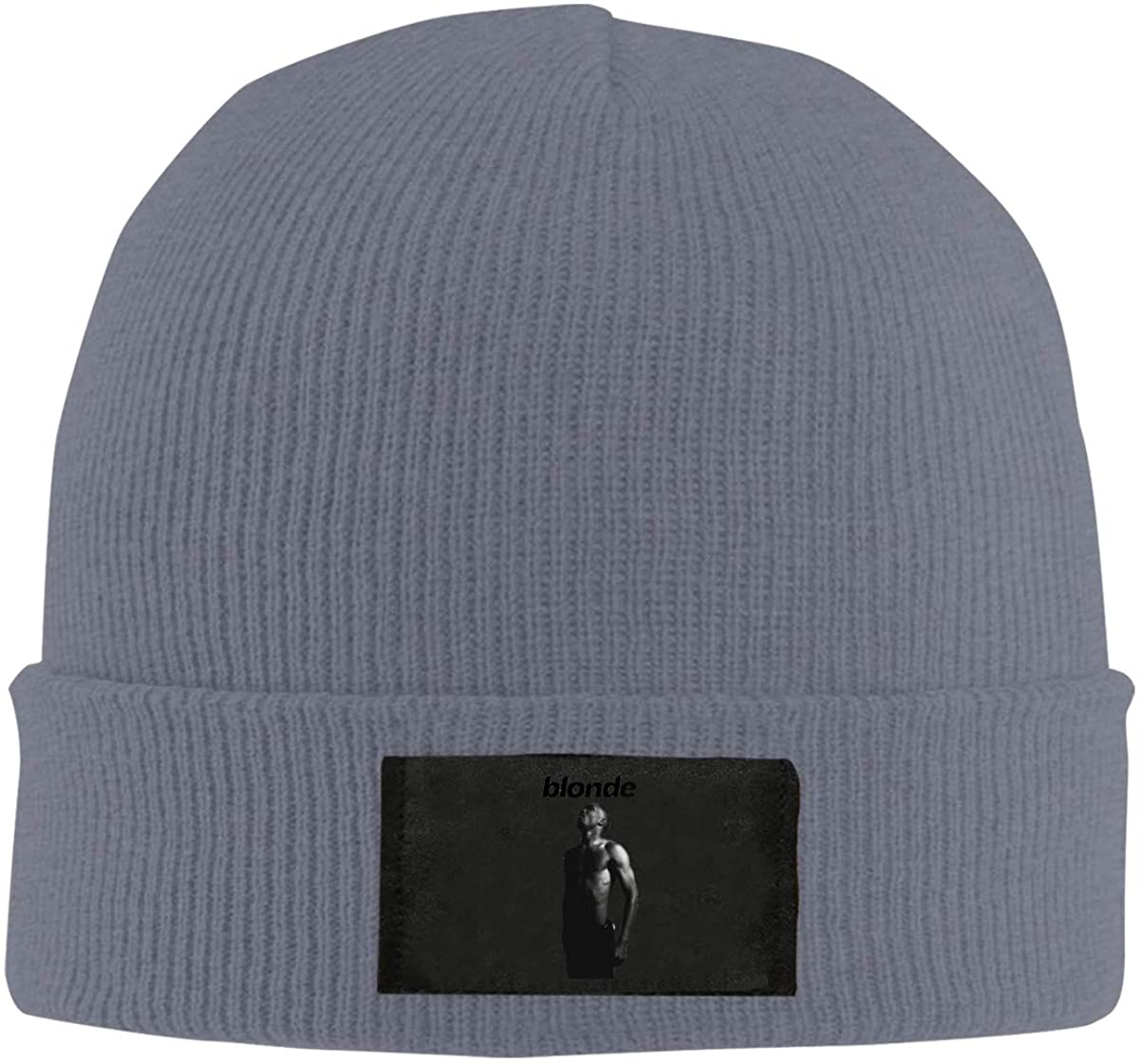 RhteGui Frank Ocean Blonde Knitted Pure Pigmented Casual Beanie Hat Hip Hop Knitting Hat Black