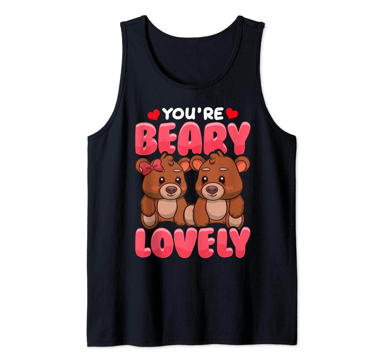 Cute Bear Pun Beary Lovely BF GF Tank Top