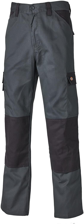 Dickies Mens Everyday Durable Cargo Pocket Work Pants (34R) (Gray/Black)