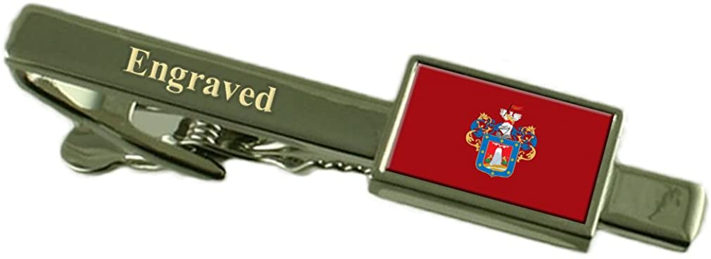 Arequipa City Peru Flag Tie Clip Engraved in Pouch
