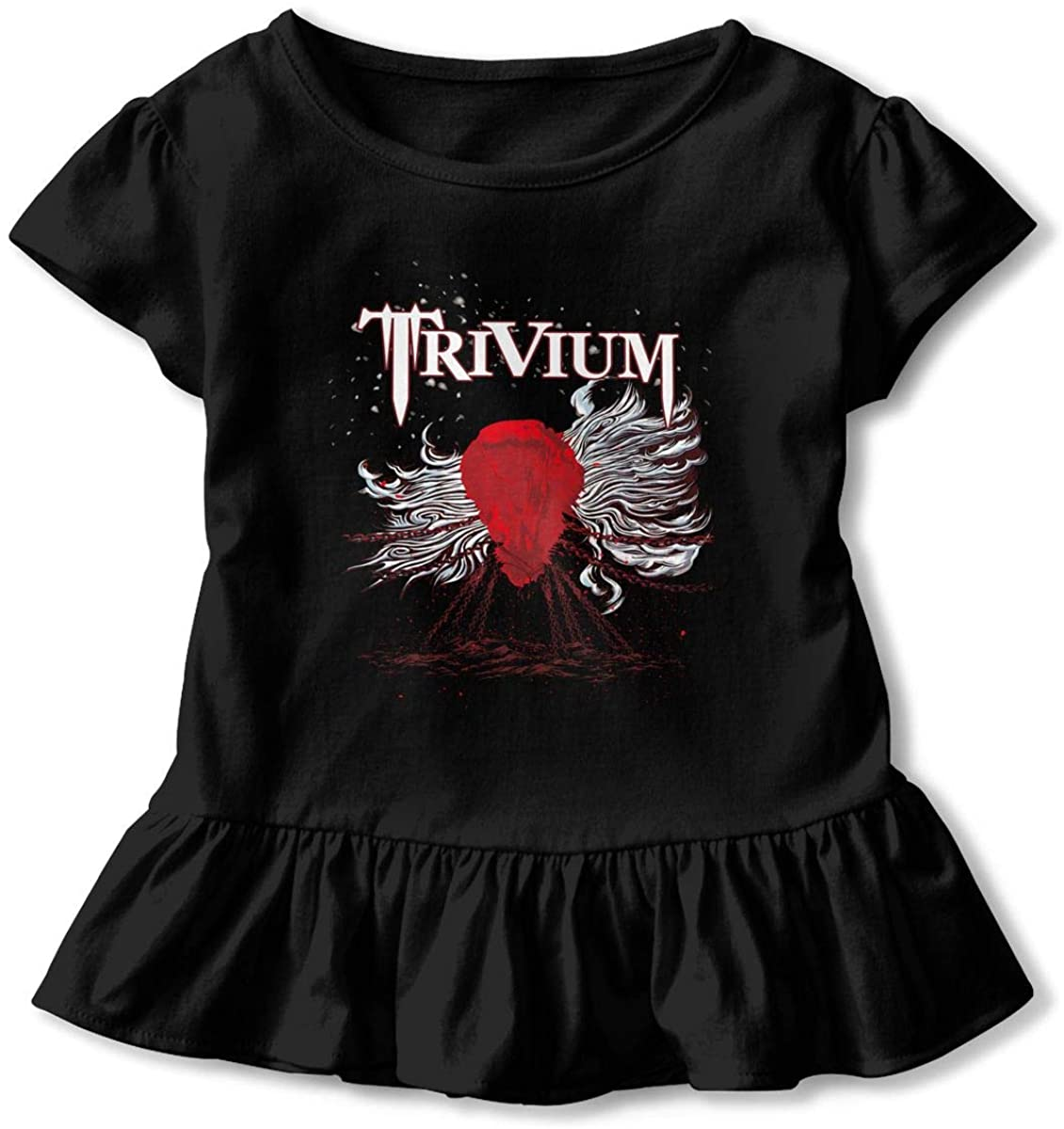 AP.Room Trivium Toddler Girl's Ruffle T-Shirt Short Sleeve 2-6t