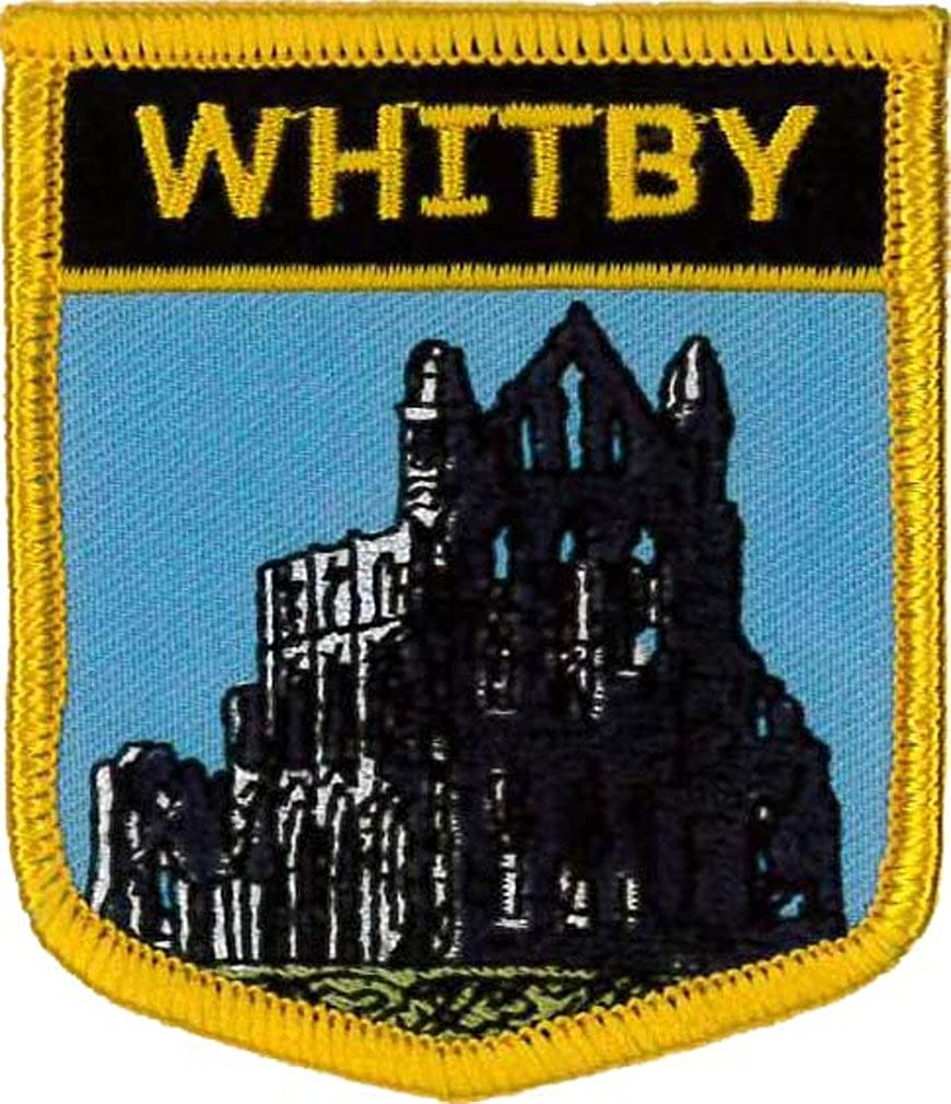 Whitby (North Yorkshire) Embroidered Patch 7cm x 6cm