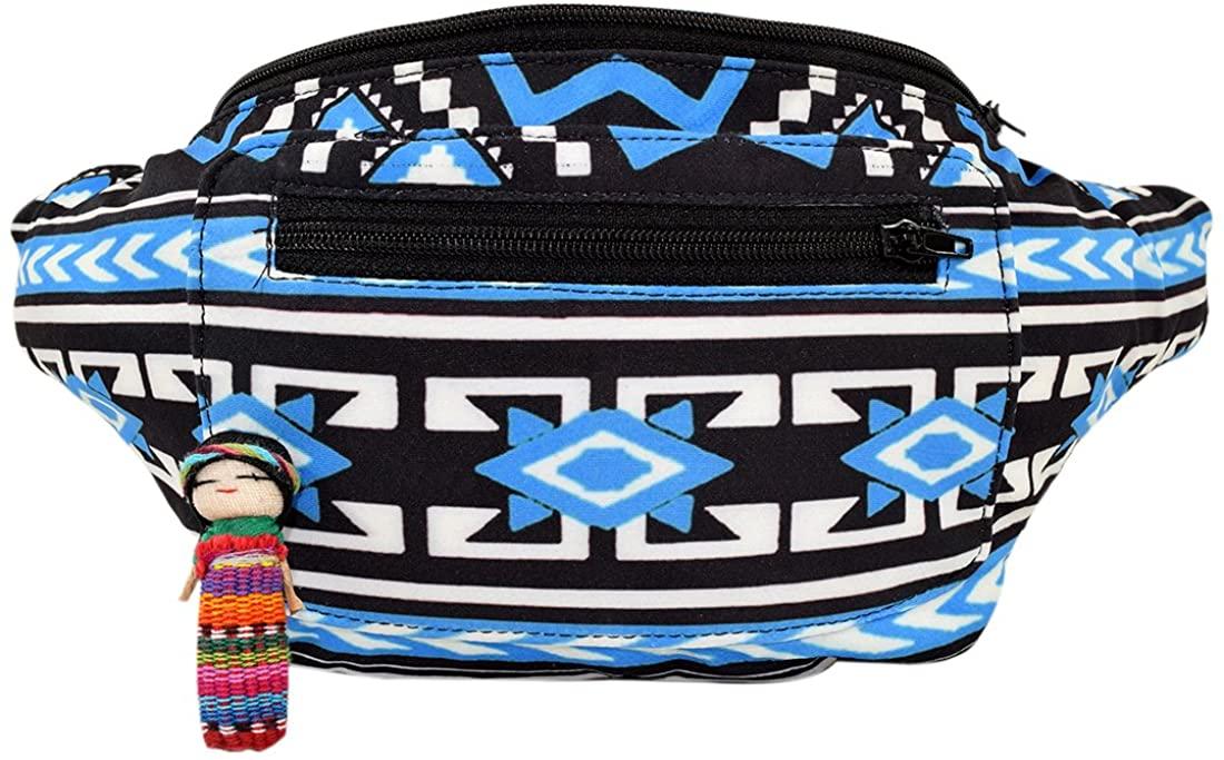 Native Tribal Aztec Party Fanny Pack, Stylish Party Boho Chic Handmade w/Hidden Pocket