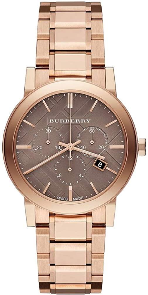 Swiss Rose Gold Date Dial 38mm Unisex Men Women Chronograph Wrist Watch The City BU9754