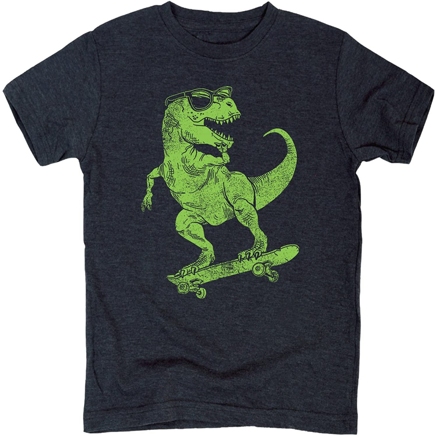 T-Rex Skate - Youth Short Sleeve Graphic T-Shirt